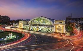 Обои вокзал, Таиланд, Бангкок, Thailand, train station, Bangkok city, Hua lamphong