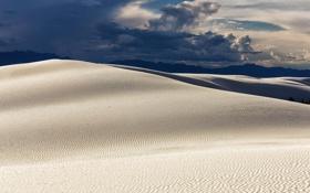 Картинка облака, горы, природа, пустыня, дюны