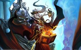 Картинка магия, маска, маг, книга, Chen Wei, колдовство, колдун