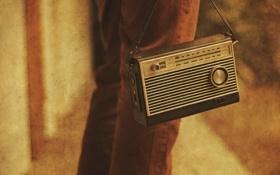 Картинка макро, стиль, радиоприёмник