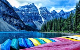 Картинка Banff National Park, Alberta, Canada, Moraine Lake