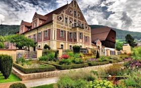 Обои цветы, город, дом, фото, Италия, Museo etnografico, Teodone