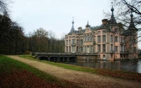 Обои осень, листья, вода, деревья, природа, красота, Замок