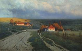 Обои Вечер, Крыжицкий, картина