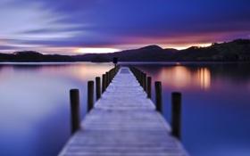 Обои небо, ночь, романтика, вечер, мосты