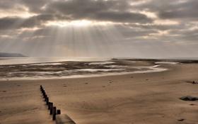 Картинка море, пляж, пейзаж, Wales, United Kingdom, Barmouth