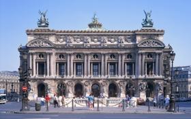 Обои Grand Opera, город, Оперный театр, франция, Париж