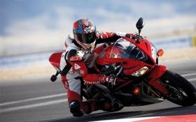 Обои скорость, байк, Honda, байкер, мотоцикл
