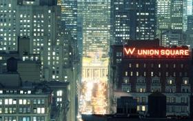 Картинка ночь, огни, нью-йорк, Night, Grand Central Terminal, New York City, usa