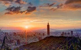 Картинка Taiwan, Taipei, longexposure, Capital City