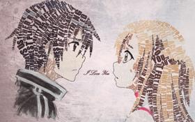 Картинка Art, Anime, Yuuki Asuna, Sword Art Online, Kirigaya Kazuto