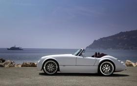 Картинка car, машина, авто, Roadster, тачка, белая, Wiesmann