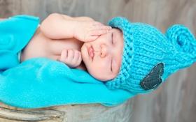 Обои ребенок, newborn, лицо, child, малыш