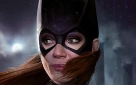 Обои взгляд, маска, арт, DC Comics, Batgirl