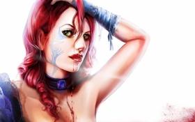 Обои капли, украшения, Девушка, татуировка, белый фон, кружева, сапфир