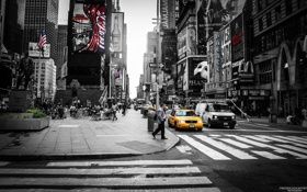 Обои Manhattan, Times Square, New york, Taxi