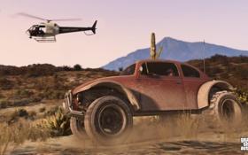 Обои машина, gta 5, вертолет, Grand Theft Auto V, тревор