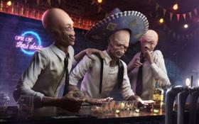 Картинка tequila, alien, вечеринка, шляпа
