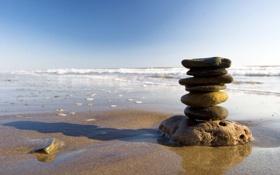 Картинка камни, фото, океан, вода, море, пляжи, песок