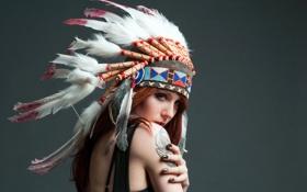 Картинка девушка, портрет, индианка