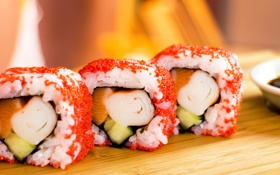 Обои суши, sushi, Японская кухня, рыба, морепродукты, fish, рис