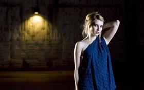 Картинка свет, лампа, актриса, блондинка, фотограф, фотосессия, помещение