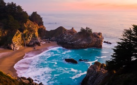 Обои море, пейзаж, горы, природа, обои, берег, wallpapers
