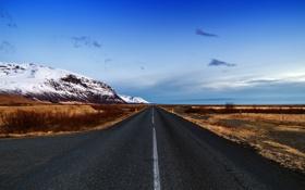 Картинка дорога, горы, природа, Iceland