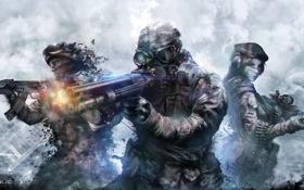 Картинка Warface, солдаты, выстрел, дым, оружие