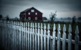 Картинка дом, фон, забор