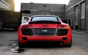 Обои Audi, Supercar, Concavo Wheels, Red matte