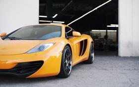 Обои McLaren, суперкар, Orange, MP4, MP4-12C
