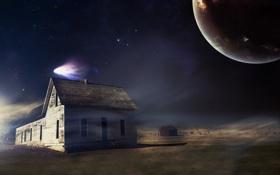 Обои дом, планета, сарай