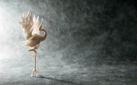 Картинка бумага, птица, оригами