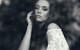 Картинка девушка, черно-белое, Brennan Hill