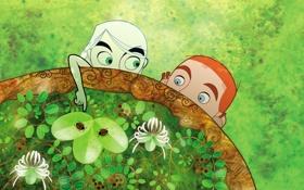 Обои лес, фентези, жуки, листва, мультфильм, Aisling, The Secret of Kells