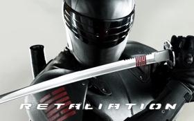 Обои фильм, меч, ниндзя, G.I. Joe: Retaliation, Бросок кобры 2, Snake Eyes, Снейк Айз
