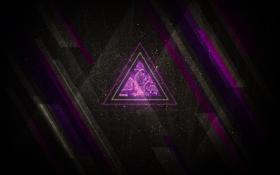 Обои фигура, темные обои, треугольник, ретро, стиль