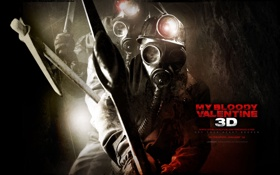 Картинка фонарь, противогаз, horror, кирка, ужасы, шахта, мой кровавый валентин