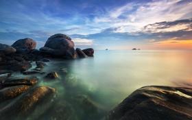 Обои море, пейзаж, Thailand, Prachuap Khiri Khan, Ban Bang Lo