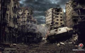 Обои дом, Германия, разрушение, танк, танки, Germany, WoT