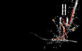 Картинка темно, водка, бренд, финляндия