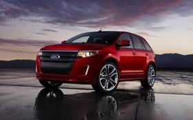 Картинка фото, тачки, ford, форд, авто обои, edge sport