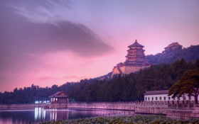 Картинка Китай, Evening at the Summer Palace, China, Beijing