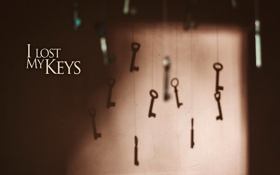 Обои надпись, фон, ключи