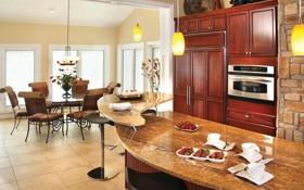 Обои дизайн, дом, стиль, комната, вилла, интерьер, кухня