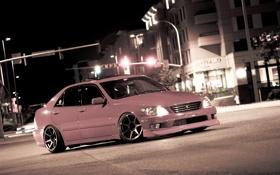 Картинка car, ночь, город, japan, toyota, jdm, tuning