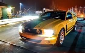 Обои Ford, Mustang, небо, передок, Saleen Parnelli Jones Boss 302, Мустанг, тень