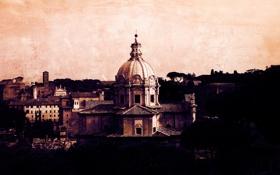 Обои city, город, здания, vintage, италия, italy, rome