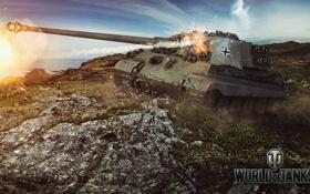 Обои Германия, танк, танки, Germany, WoT, Мир танков, Tiger II